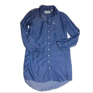 Jack Wills Chambray Tunic Dress Long Sleeve